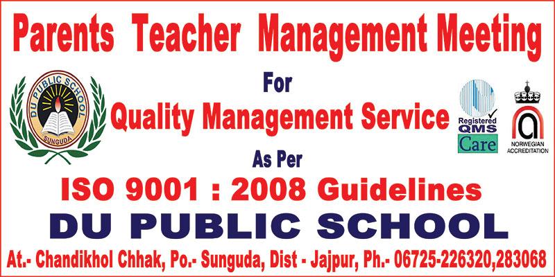 Parents Teacher Management Meeting